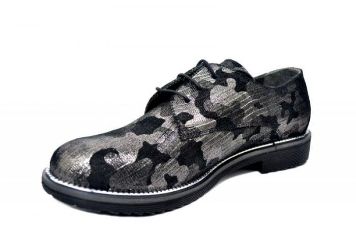 Pantofi Oxford Piele Naturala Negri Orana D01744 2