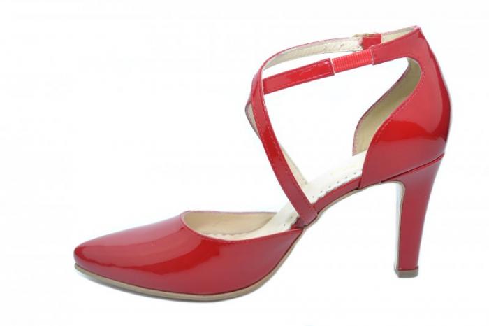 Pantofi Dama Piele Naturala Rosii Paloma D01860 [1]