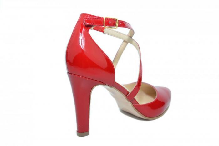 Pantofi Dama Piele Naturala Rosii Paloma D01860 [3]