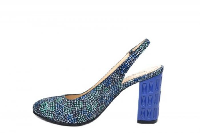 Pantofi Dama Piele Naturala Bleumarin Corvaris Paola D02059 1