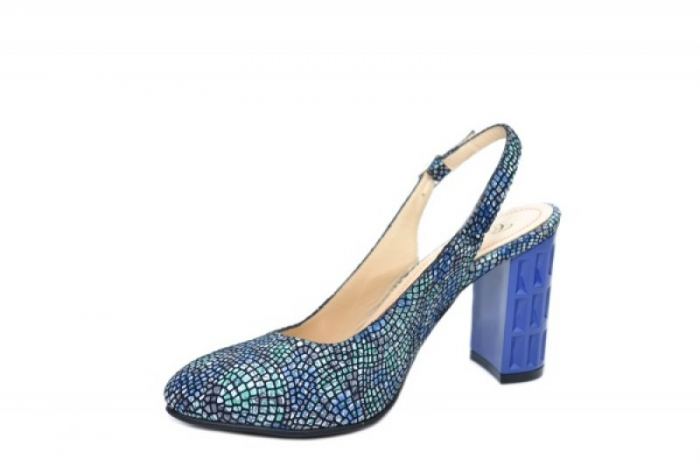 Pantofi Dama Piele Naturala Bleumarin Corvaris Paola D02059 2
