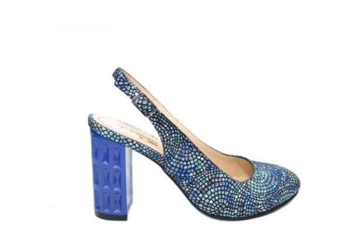 Pantofi Dama Piele Naturala Bleumarin Corvaris Paola D02059 0