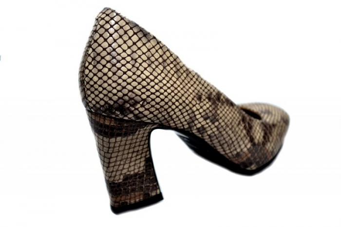 Pantofi cu toc Piele Naturala Negri Corvaris Rafaella D01339 [3]