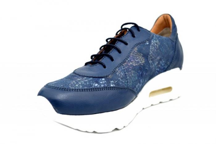 Pantofi Casual Piele Naturala Bleumarin Ramla D01635 2