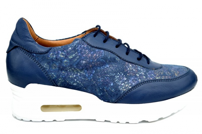Pantofi Casual Piele Naturala Bleumarin Ramla D01635 0