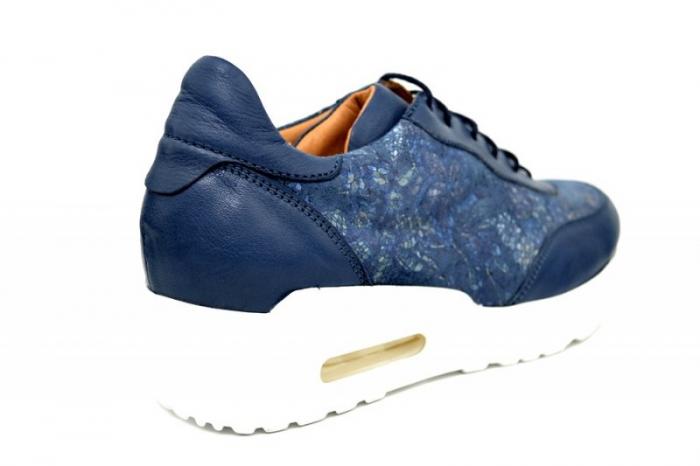 Pantofi Casual Piele Naturala Bleumarin Ramla D01635 3