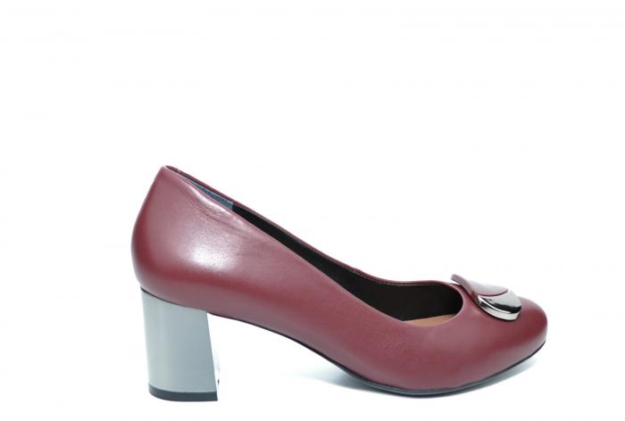 Pantofi cu toc Piele Naturala Grena Epica Ramya D02065 [0]