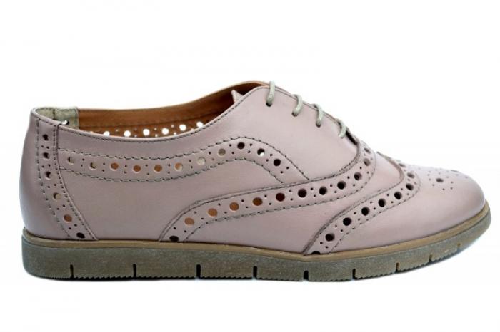 Pantofi Casual Piele Naturala Nude Randa D01639 [0]