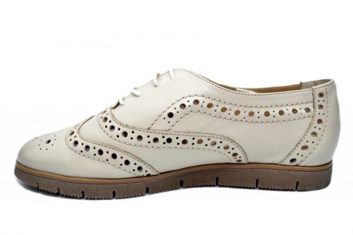 Pantofi Casual Piele Naturala Bej Randa D01648 1