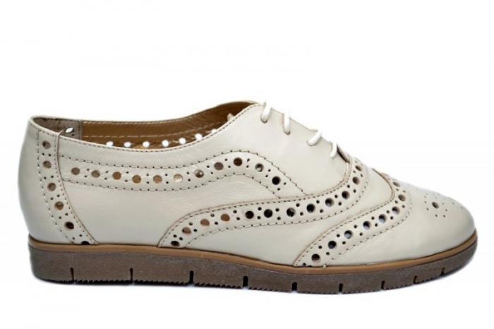 Pantofi Casual Piele Naturala Bej Randa D01648 0