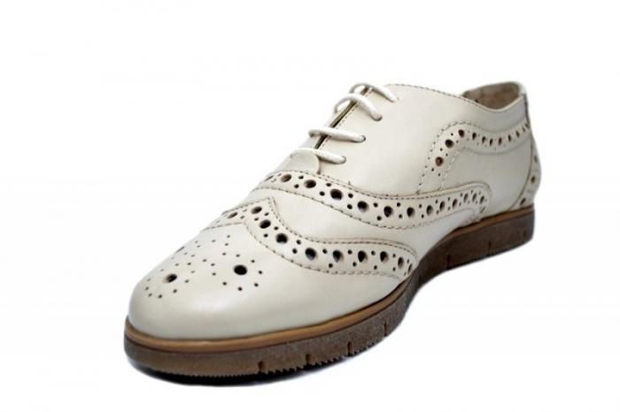 Pantofi Casual Piele Naturala Bej Randa D01648 2