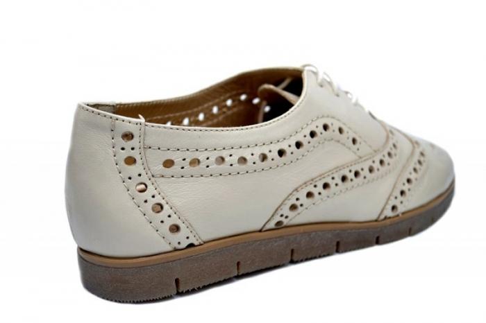 Pantofi Casual Piele Naturala Bej Randa D01648 3