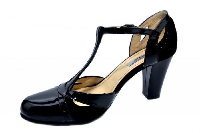 Pantofi Dama Piele Naturala Negri Rebecca D01290 2