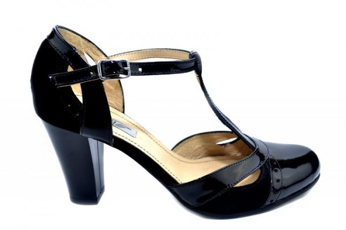 Pantofi Dama Piele Naturala Negri Rebecca D01290 0