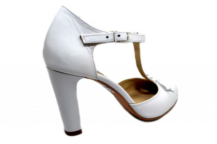 Pantofi Dama Piele Naturala Albi Rebecca D01293 3