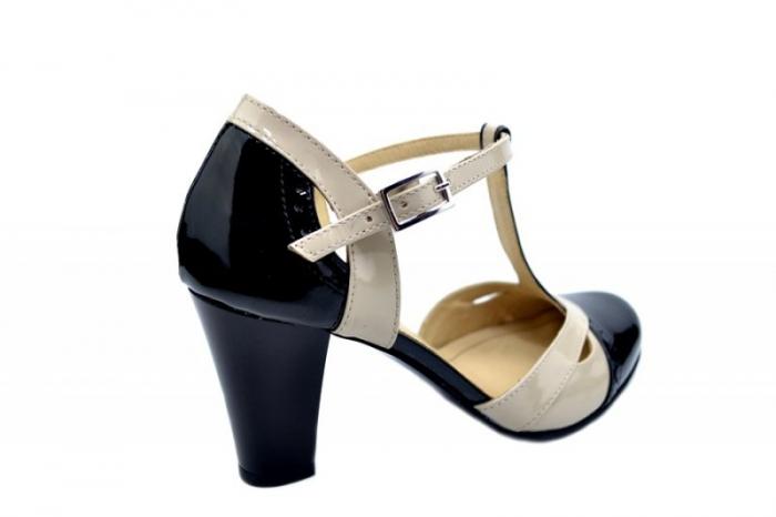 Pantofi Dama Piele Naturala Negri Rebecca D01597 3