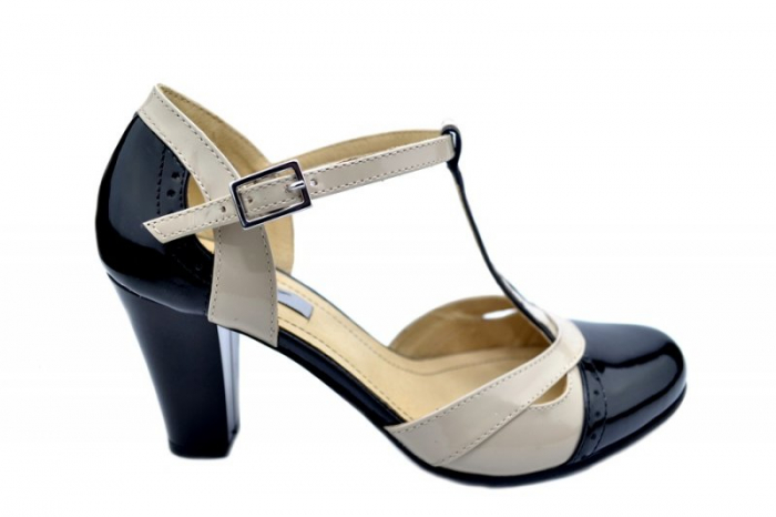 Pantofi Dama Piele Naturala Negri Rebecca D01597 0