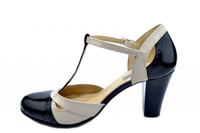 Pantofi Dama Piele Naturala Negri Rebecca D01597 1