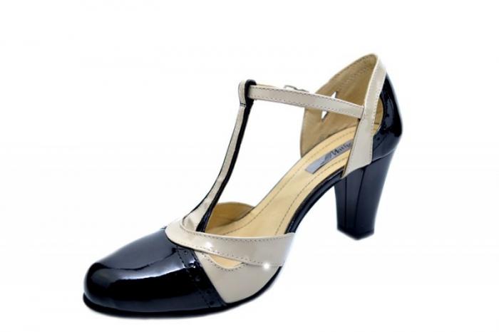 Pantofi Dama Piele Naturala Negri Rebecca D01597 2
