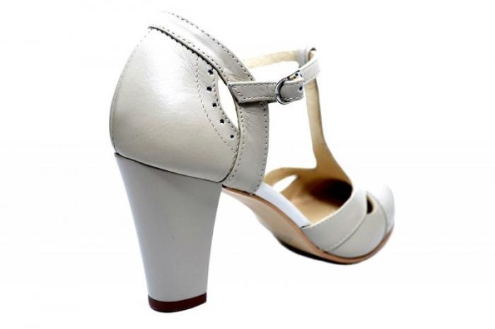 Pantofi Dama Piele Naturala Bej Rebecca D01680 3