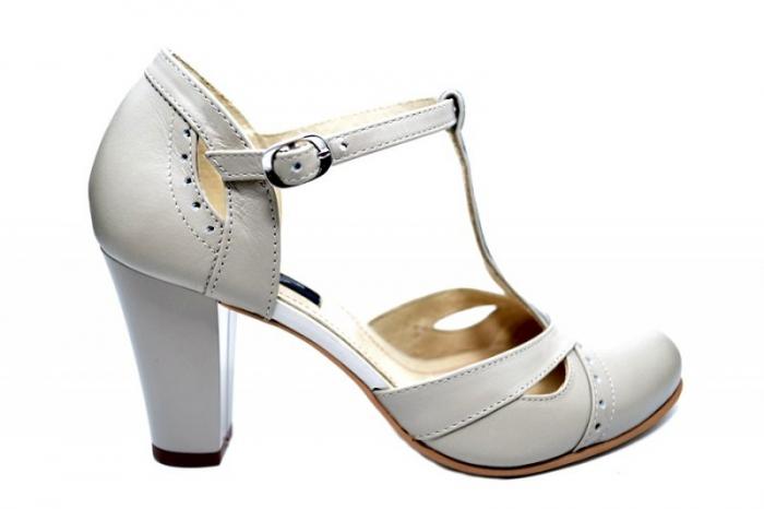 Pantofi Dama Piele Naturala Bej Rebecca D01680 0