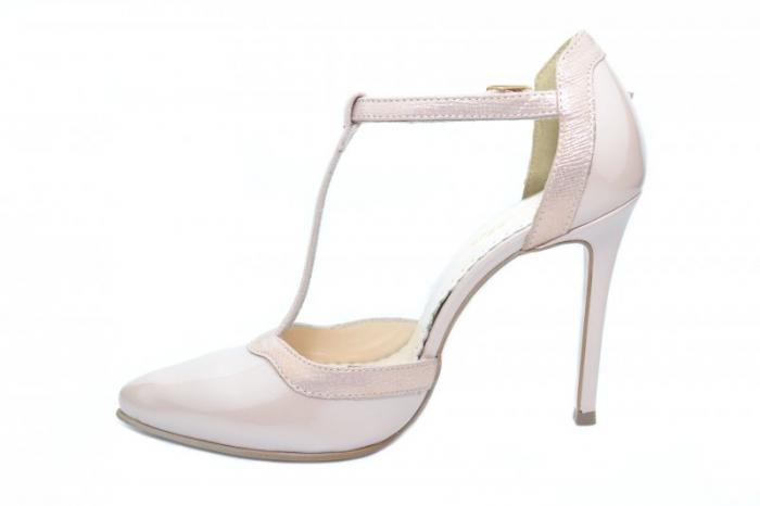 Pantofi Dama Piele Naturala Nude Samira D01853 [1]