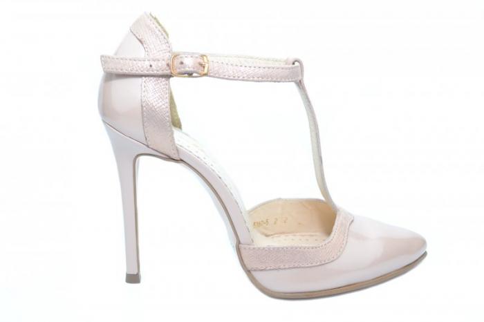 Pantofi Dama Piele Naturala Nude Samira D01853 [0]