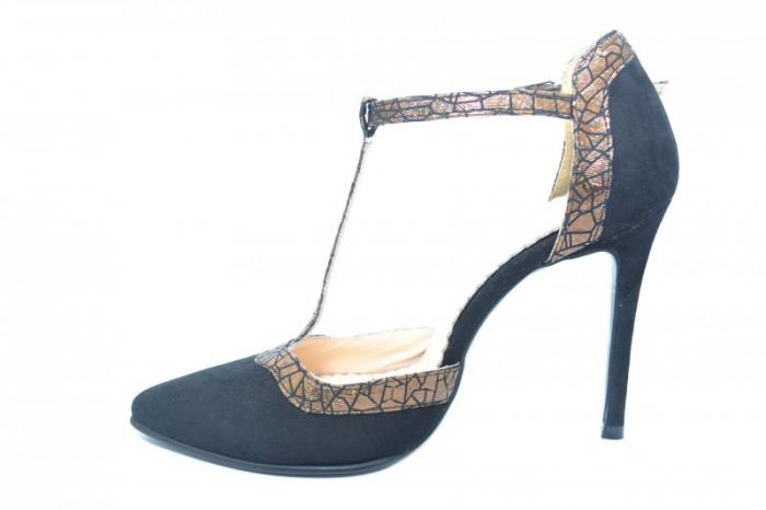 Pantofi Dama Piele Naturala Negri Samira D01854 1