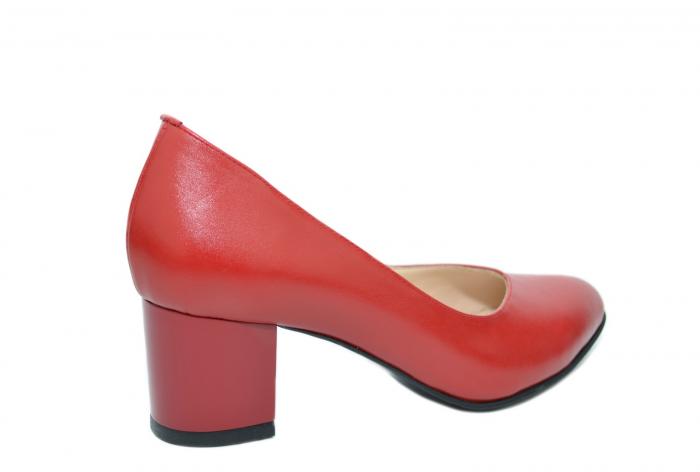 Pantofi cu toc Piele Naturala Rosii Moda Prosper Selena D02073 1