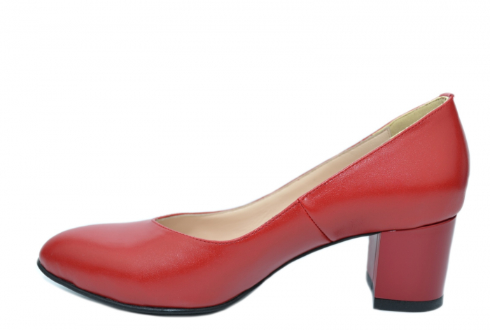 Pantofi cu toc Piele Naturala Rosii Moda Prosper Selena D02073 2