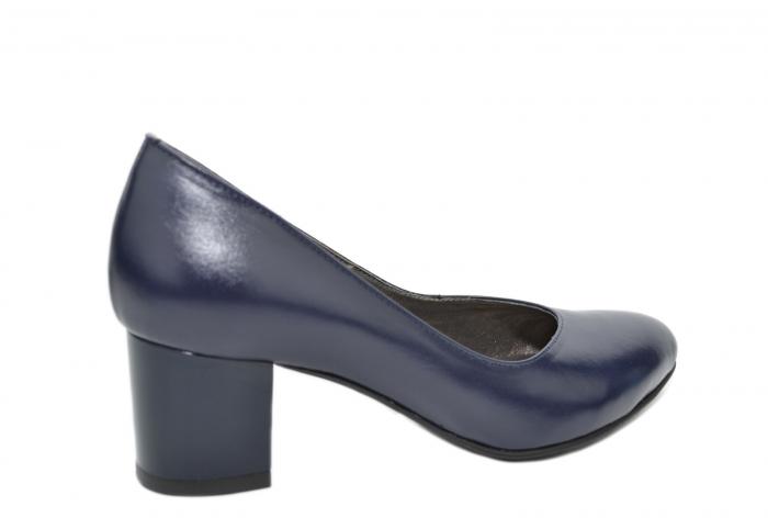 Pantofi cu toc Piele Naturala Bleumarin Moda Prosper Selena D02074 3