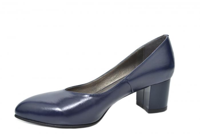 Pantofi cu toc Piele Naturala Bleumarin Moda Prosper Selena D02074 2