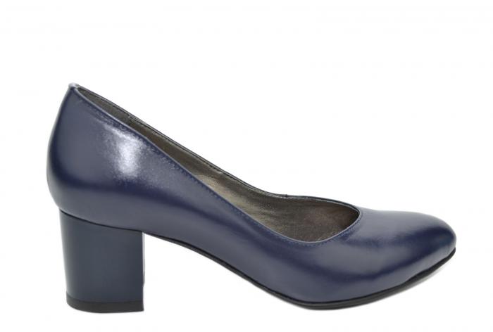 Pantofi cu toc Piele Naturala Bleumarin Moda Prosper Selena D02074 0