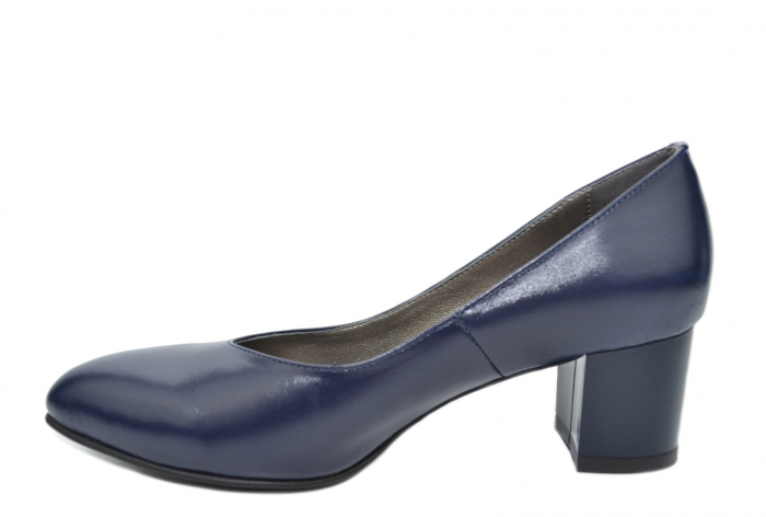 Pantofi cu toc Piele Naturala Bleumarin Moda Prosper Selena D02074 1