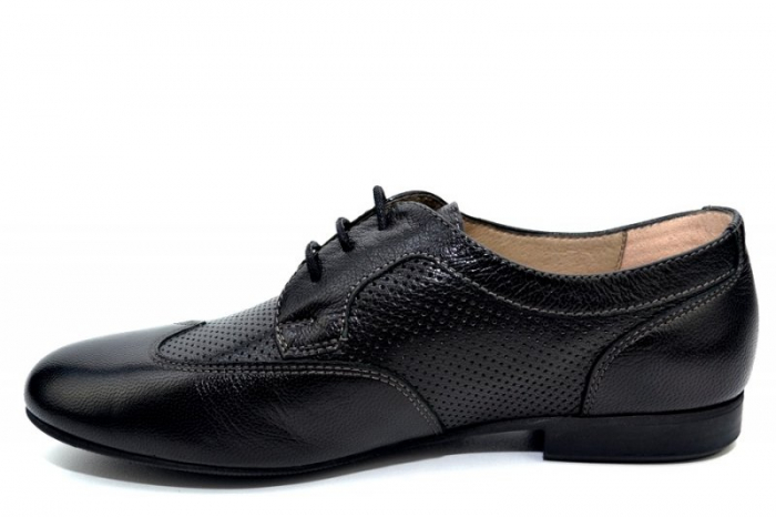 Pantofi Casual Piele Naturala Negri Serena D01345 1