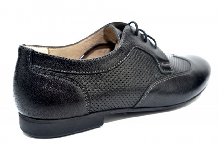 Pantofi Casual Piele Naturala Negri Serena D01345 3