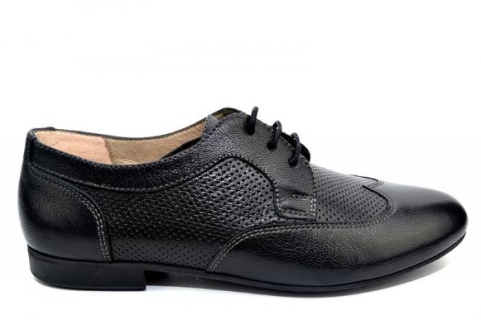 Pantofi Casual Piele Naturala Negri Serena D01345 0