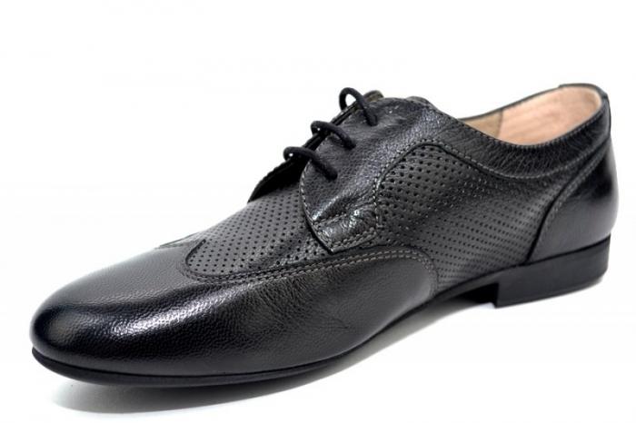 Pantofi Casual Piele Naturala Negri Serena D01345 2