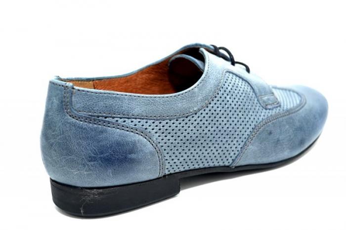 Pantofi Casual Piele Naturala Albastri Serena D01346 3