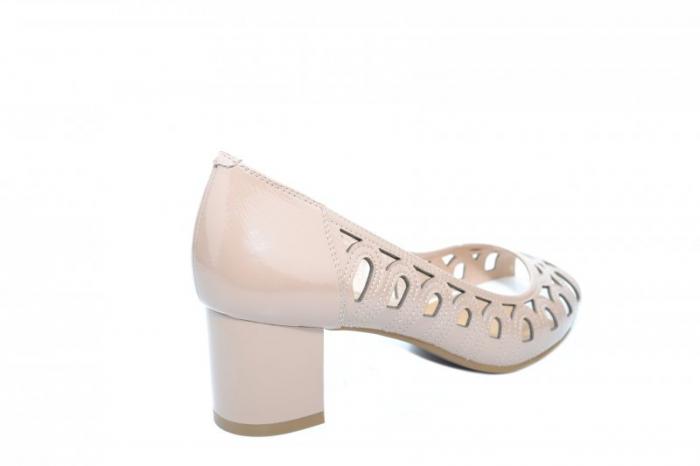 Pantofi Dama Piele Naturala Crem Shirlene D01867 3