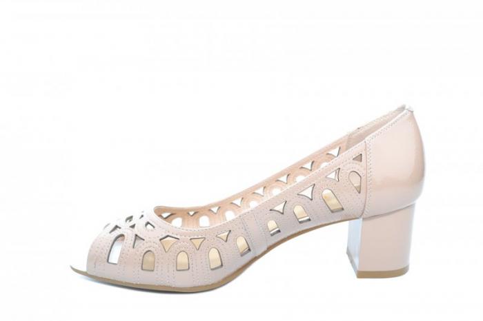 Pantofi Dama Piele Naturala Crem Shirlene D01867 1
