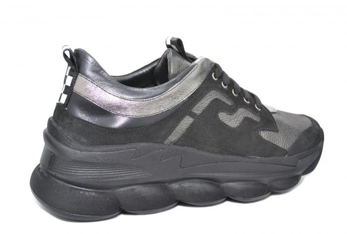 Pantofi Casual Piele Naturala Negri Silviana D02080 3