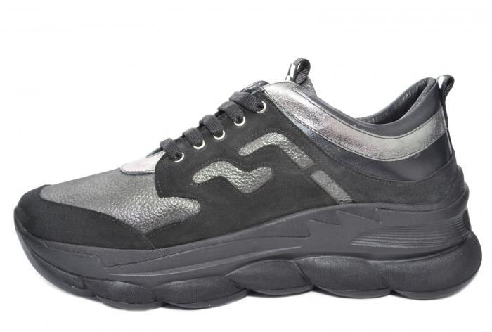 Pantofi Casual Piele Naturala Negri Silviana D02080 1