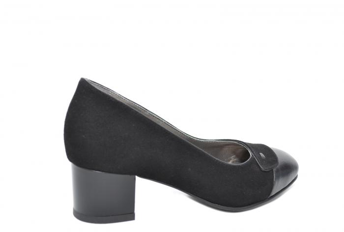 Pantofi cu toc Piele Naturala Negri Moda Prosper Simina D02075 [0]