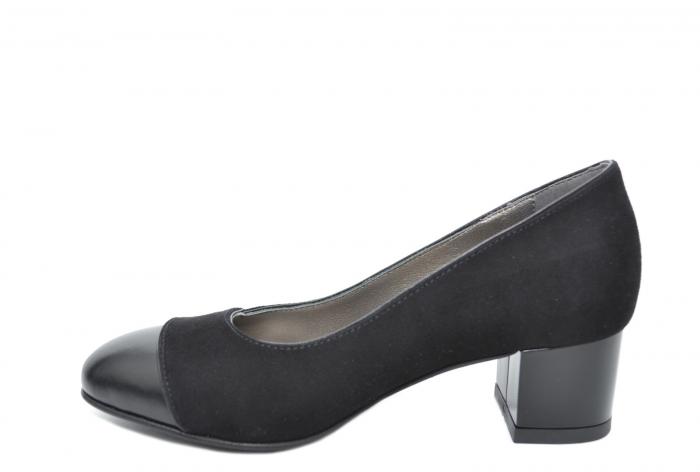 Pantofi cu toc Piele Naturala Negri Moda Prosper Simina D02075 [1]