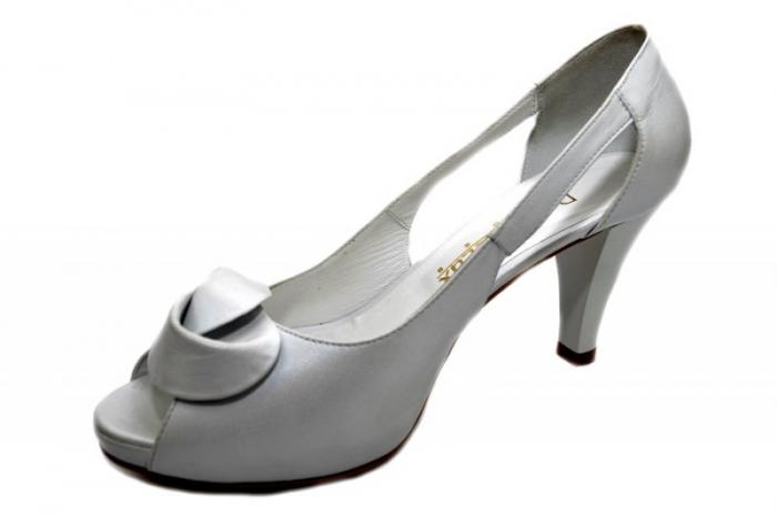 Pantofi Dama Piele Naturala Albi Simone D01330 2