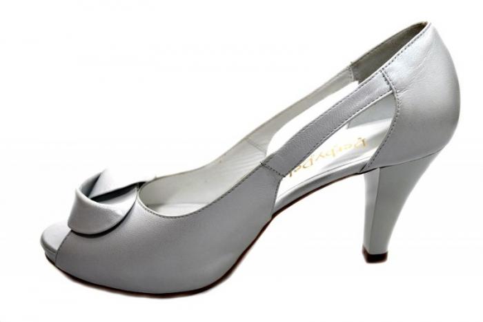 Pantofi Dama Piele Naturala Albi Simone D01330 1