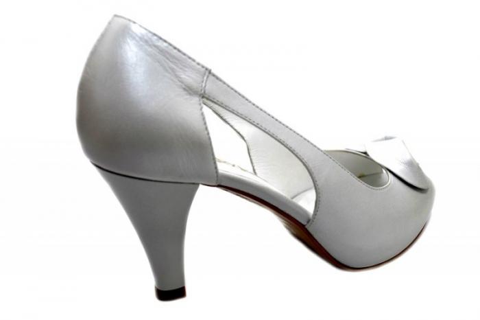 Pantofi Dama Piele Naturala Albi Simone D01330 3