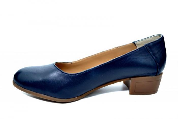 Pantofi cu toc Piele Naturala Bleumarin Siri D01750 1