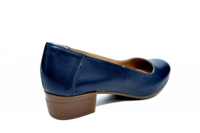Pantofi cu toc Piele Naturala Bleumarin Siri D01750 3